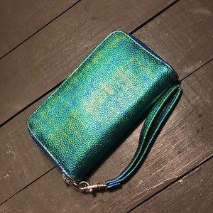 Iridescent Wristlet Wallet